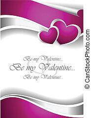 valentine, kaart, uitnodiging