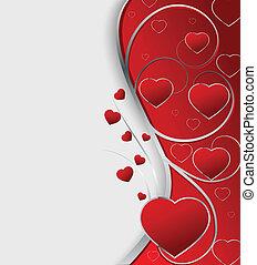 valentine, karta, powitanie