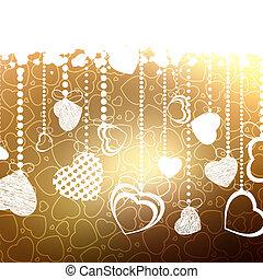 valentine karta, z, kopia, space., eps, 8