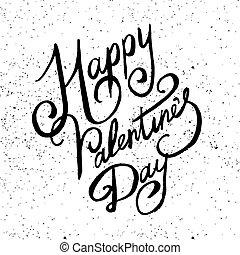Valentine Lettering vector