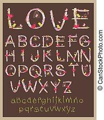 Valentine Love Alphabet Font Design