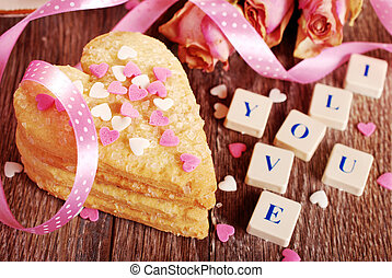 valentine love declaration - I love you made of scrabble...