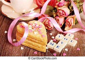 valentine love declaration - love words made of scrabble...