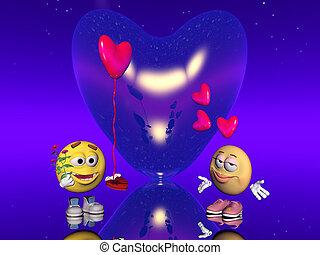 Valentine love, Emoticon