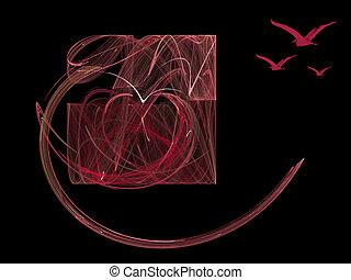 Valentine love, fractal heart