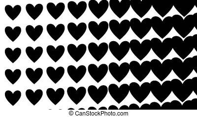 Valentine Love Heart background transition