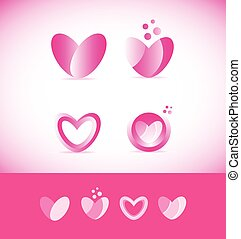 Valentine love heart logo