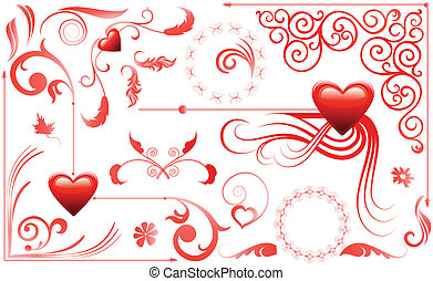 Valentine Love Hearts Set
