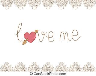 Valentine love me background