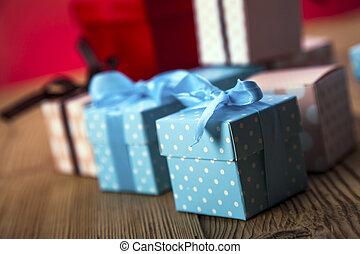 valentine, lovers!, dons, jour, passionné, jour, rouges