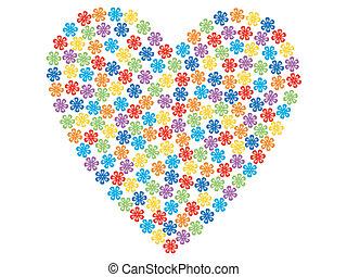 valentine made of flowers