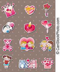 valentine, majchry, rysunek, dzień