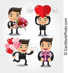 valentine, miłość, ludzie