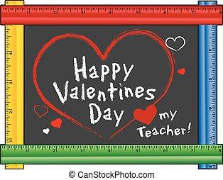 valentine, miłość, nauczyciel, mój