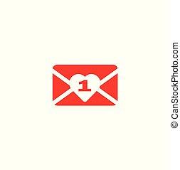 Valentine - new message. Red envelope