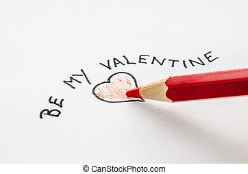 Valentine note on a paper