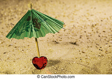 Valentine on the beach