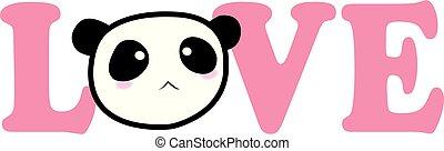 valentine, panda, miłość
