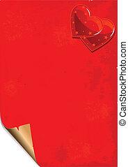 Valentine paper grunge background