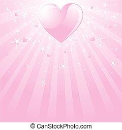 Valentine pink heart, stars and st - Pink Valentine...