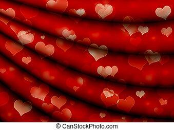 valentine, plano de fondo, con, corazones
