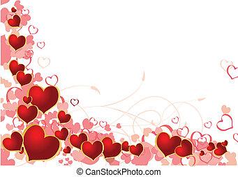 valentine, plano de fondo, con, lugar, para, su, texto
