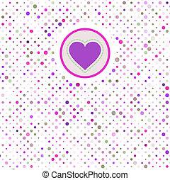 Valentine polka dots. EPS 8