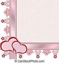 Valentine postcard. Frame