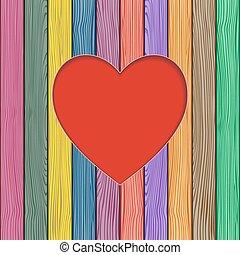 valentine, powitanie, card., wektor, ilustracja