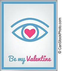 valentine, powitanie karta, da