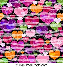 valentine, próbka, seamless, pstry