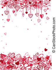 valentine, rahmen, design, mit, raum, für, dein, text