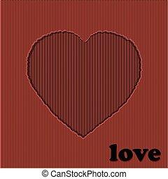 Valentine red heart cardboard