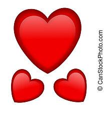 Valentine red hearts graphic