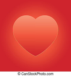 Valentine red on gold heart