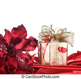 valentine, regalo, aislado, blanco