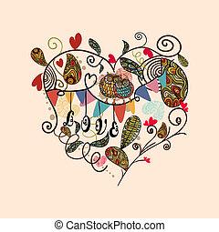 valentine, reizend, reizend, herz, karte