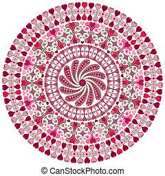 Valentine round frame - Decorative valentine round frame...