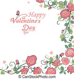 Valentine `s day background  with r