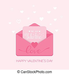Valentine s day illustration. Receiving or sending love emails and sms