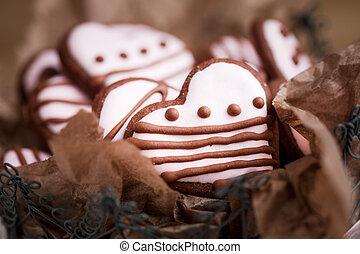 valentine´s, jour, biscuits