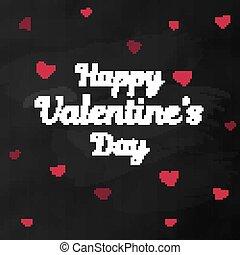 valentine, salutation, tableau, jour, carte, heureux