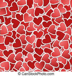 Valentine seamless background - Heart seamless pattern-gift...