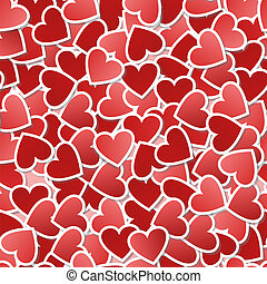 Valentine seamless background - Heart seamless pattern-gift...