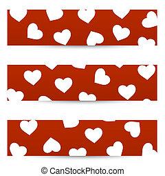 valentine, seamless, bandeiras