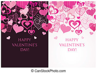 Valentine seamless banners