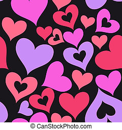 valentine, seamless, corações, padrão