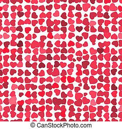 Valentine seamless hearts pattern. EPS 8