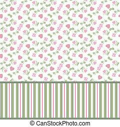 Valentine seamless pattern with hea