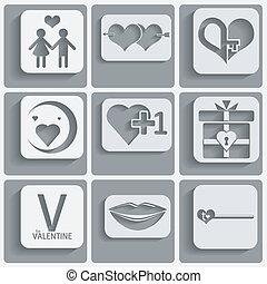 valentine, set, dag, iconen